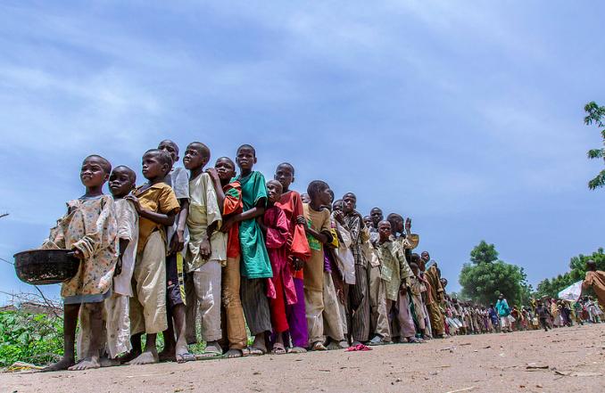 Banki IDP camp, Borno state, northeast Nigeria